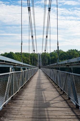 Мосты Eho Severa самый длинный подвесной мост в Беларуси