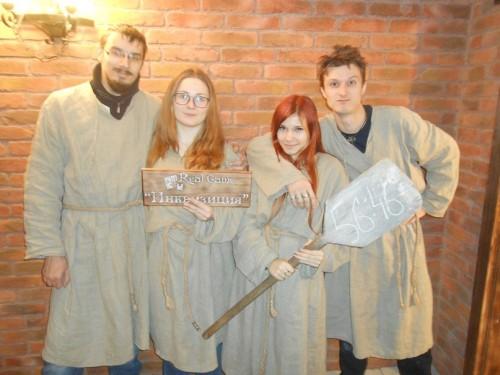 Наша команда еретиков: Денис, Маня, Метель и Ветер. Фото Дениса Синкевича, Real Game.